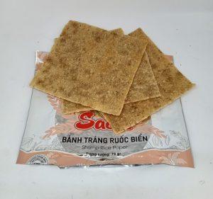 Bánh tráng ruốc biển Bình Định nướng sẵn